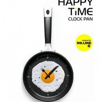 Happy Time Pan Fried Egg Novelty Wall Clocks