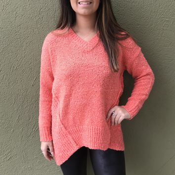 The Favorite Sweater - Coral