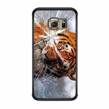 tiger in water cracked out samsung galaxy s6 s6 edge s3 s4 s5 cases