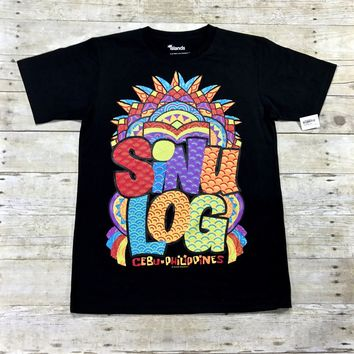 SINULOG Cebu-Philippines Puff Print Graphic T-Shirt Mens Size Medium