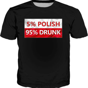 Sometime I hate my country, then I go to bar ;] Polish pride black t-shirt, Poland flag