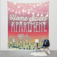 Home Sweet Apartment - Sunset Version Wall Tapestry by Jenndalyn
