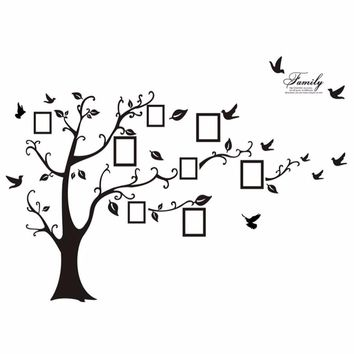 New Photo Picture Frame Family Tree Wall Sticker