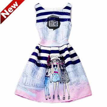 Children Costumes Girl Dresses Vestidos Jurken Meisjes Kinderen Baby Girls Dress Summer Age 6-12Y PO6