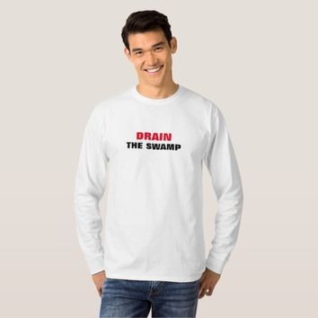 DRAIN THE SWAMP TRUMP MEN'S LONG SLEEVE T-SHIRT