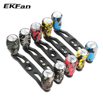 2018 EKFan High Quality 105mm 8*5mm Hole Camouflage Series Carbon Fiber Fishing Reel Handle EVA Knob