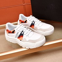 Valentino Men's Leather Fashion Low Top Sneakers Shoes