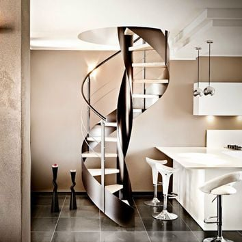 Spiral helical stairs VORTIKA by OFFICINE SANDRINI