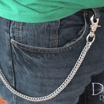 Wallet Chain - Chainmaille Wallet - Men's Accessories - Biker Chain Wallet - Mens Gifts - Chain Wallet - Handmade Gift - Half Persian