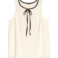 H&M+ Sleeveless Lace Top - from H&M