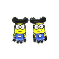 Mickey Mouse Minions From Despicable Me Stud Earrings | DOTOLY