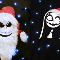 JACK & SALLY - COUPLES SWEATERS - MR & MRS CLAUS - THE PUMPKIN KI | StickItVinyls