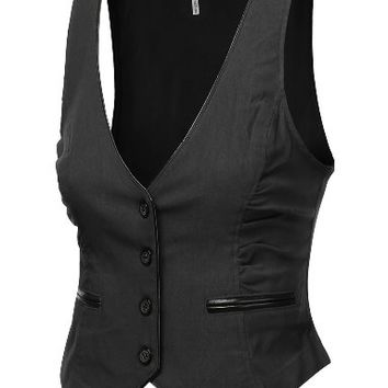 J.TOMSON Womens Button Down Vest