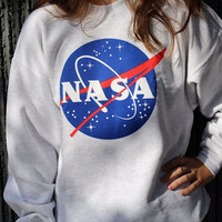 NASA Printed Long-Sleeved Sweater 12037