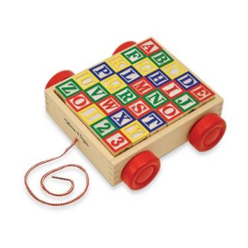 Melissa & Doug® Toy Classic ABC Block Cart