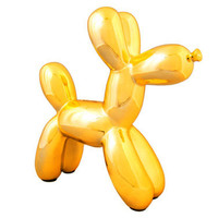 Metallic  Ceramic Balloon Dog Bank