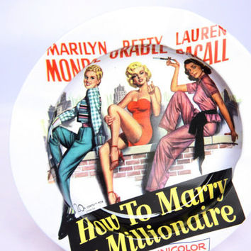 Great souvenir ashtray of the movie How to marry a Millionaire