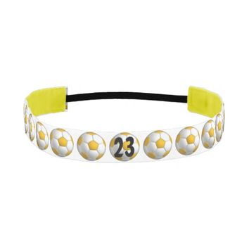 Custom Yellow Soccer Headband