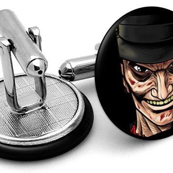 Freddy Krueger Portrait Cufflinks