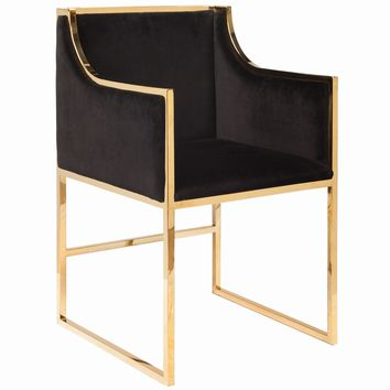 Worlds Away Anabelle Black with Brass Chair