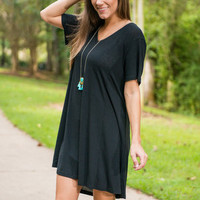 Take Me T-Shirt Dress, Black