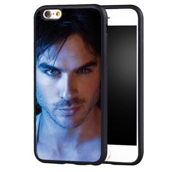 The Vampire Diaries Ian Somerhalder Printed Soft Rubber Mobile Phone Case For iPhone 6 6S Plus SE 5 5S 5C 4 4S Back Shell Cover