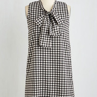 ModCloth Short Length Shift Shift Into Tur-bow Dress