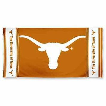 "TEXAS LONGHORNS 30""X60"" FIBER REACTIVE BEACH TOWEL BRAND NEW WINCRAFT"