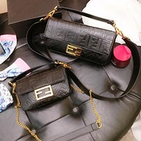 Fendi New Fashion more letter leather shoulder bag women