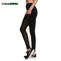 KISSyuer Adventur time Black women leggings Mesh pocket leggings fashion workout sexy Legging Fitness quick-drying 2017 KL173