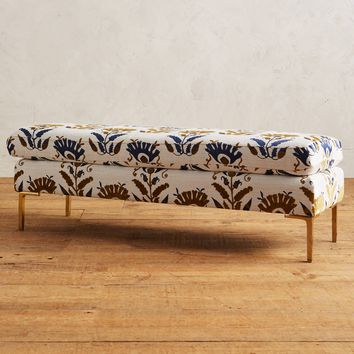 Fan-Woven Edlyn Bench