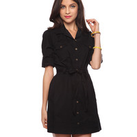 Self-Tie Shirtdress | FOREVER21 - 2002928527