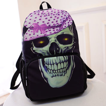 On Sale Back To School College Comfort Hot Deal Stylish Skull Casual Strong Character Fashion Korean Backpack [6582643399]