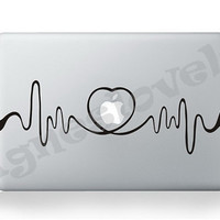 Mac decal-Pulse , Macbook Decal, Macbook Air Stickers, iPad Sticker for your Macbook and iPad