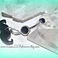 Mustache Belly Button Ring Hipster Direct Checkout Ready to Ship