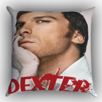 Dexter Morgan Bloody Face X1621 Zippered Pillows  Covers 16x16, 18x18, 20x20 Inches