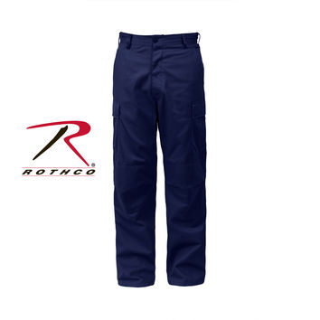 Midnight Blue Zip Fly Unform Pant