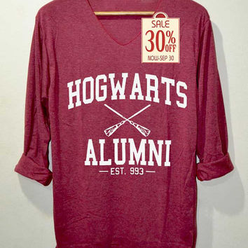 Hogwarts Alumni Shirt Harry Potter Shirts Long Sleeve Unisex Adults Size M L