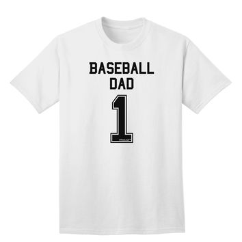 Baseball Dad Jersey Adult T-Shirt by TooLoud