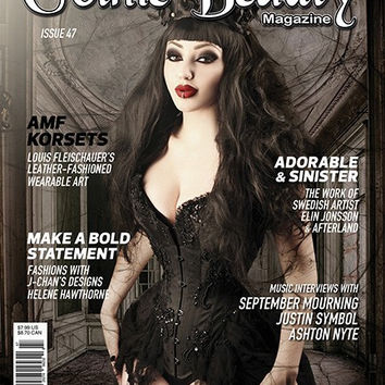 Gothic Beauty Magazine Issue 47 Music interviews with September Mourning, Justin Symbol and Ashton Nyte