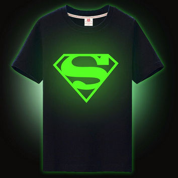 Luminous T-shirts For Boys Stars Night Shining Boys T-shirt Teens Children's Sports Short Tops 2017 Summer Casual Boys Clothing