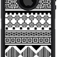 Mightyskins Protective Vinyl Skin Decal Cover for OtterBox Defender iPhone 5/5s/SE Case wrap sticker skins Black Aztec