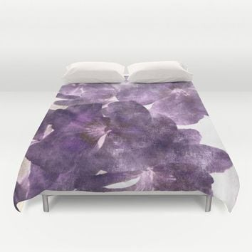 Purple Blossoming Duvet Cover by ARTbyJWP