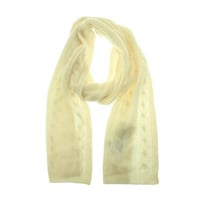 Charter Club Womens Cashmere Cable Knit Winter Scarf