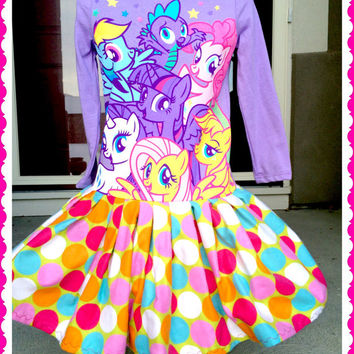 RTS girls My Little Pony Pony Power Rainbow Dash Pinkie Pie Rarity size 2T 3T 4 5 6X ready to ship today