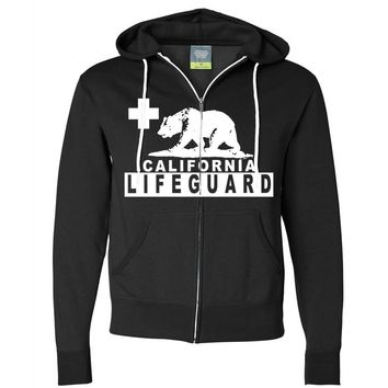 California Lifeguard Zip-Up Hoodie