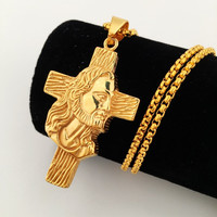 Gift Stylish Jewelry New Arrival Shiny Hip-hop Club Cross Rack Necklace [8439440003]