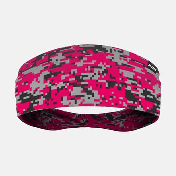 Digital Camo Pink Clutch Headband