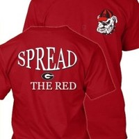 UGA Spread the Red T-Shirt | Georgia Bulldogs Apparel | UGA T-Shirts