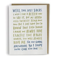 A Sympathy Card For When You Don't Know What To Say